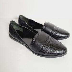 Vince Black Leather Mason Ballet Flats Loafers